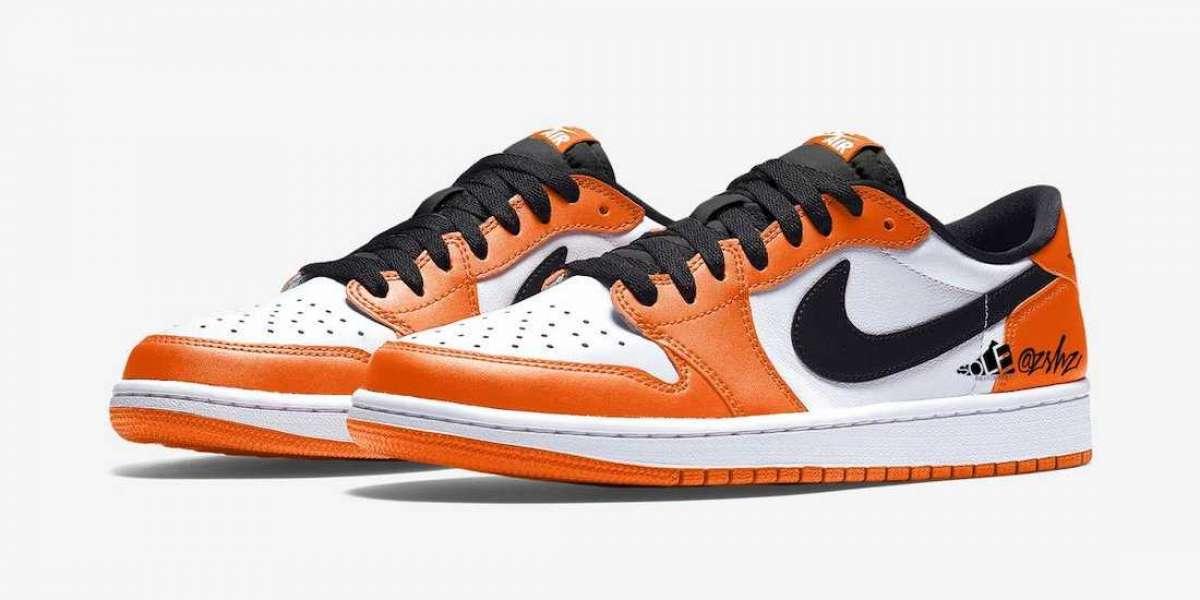 """2021 Nike Air Jordan 1 Low OG """"Shattered Backboard"""" Orange/White-Black CZ0790-801"""