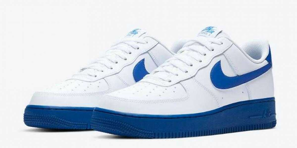 Latest CK7663-103 Nike Air Force 1 Low White Royal Blue for Sale