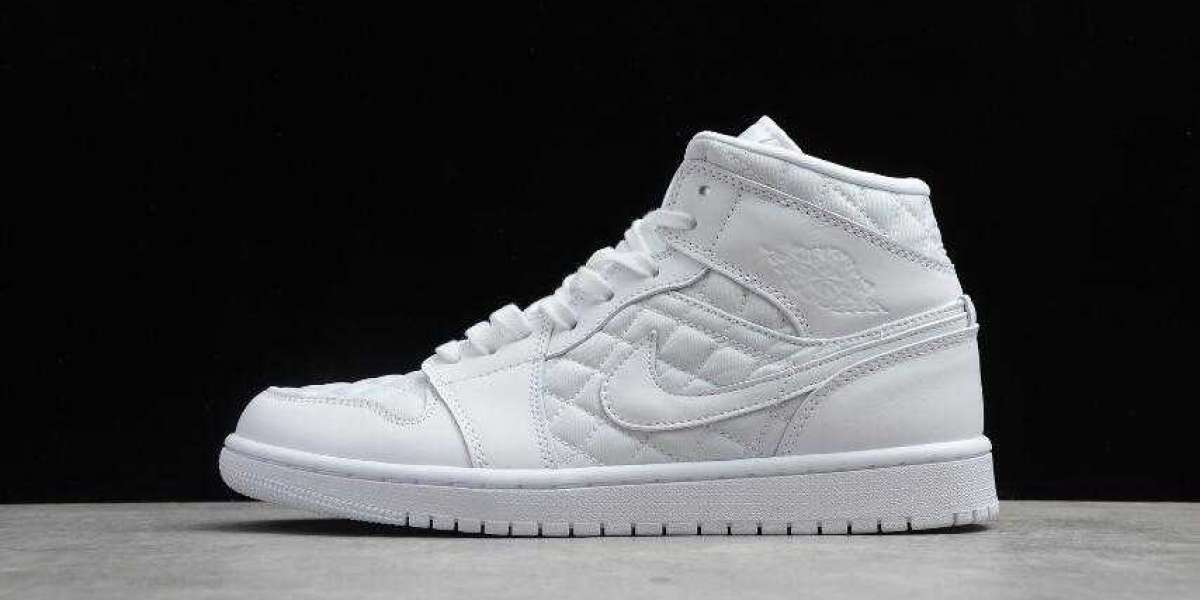 2020 Best Selling Air Jordan 1 Mid Quilted White is Available Now