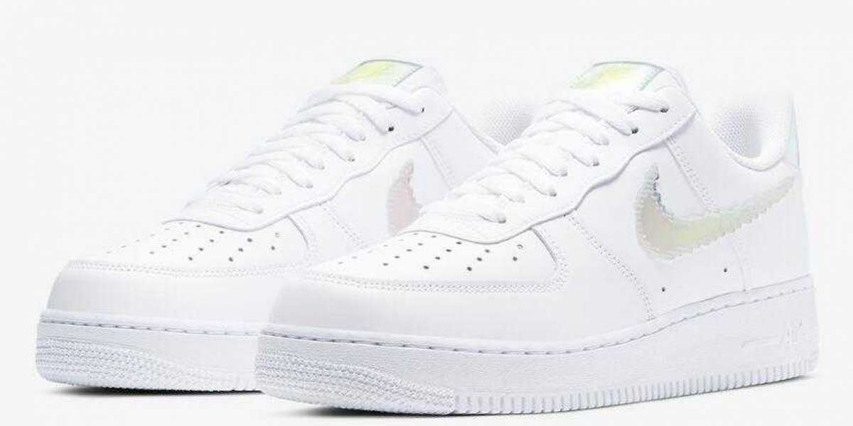 Looking Forward to CV1699-100 Nike Air Force 1 Low Iridescent Pixel Shoes