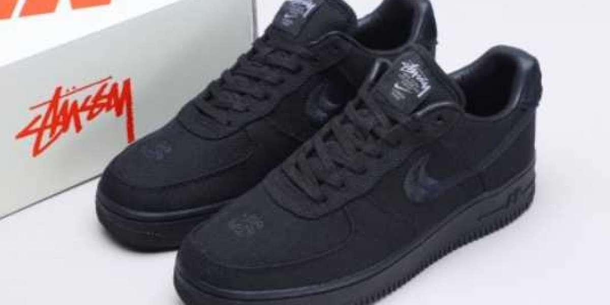 "Best Selling Stussy x Nike Air Force 1 Low ""Triple Black"" CZ9084-001"