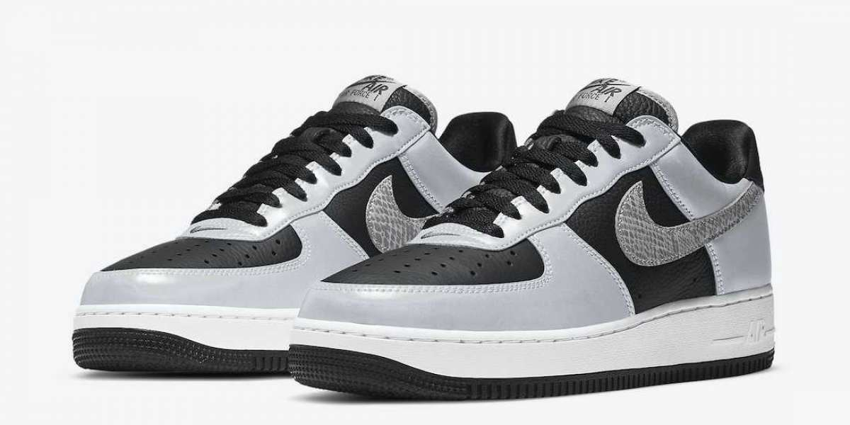 "Most Popular Nike Air Force 1 ""Silver Snake"" Sale Online DJ6033-001"