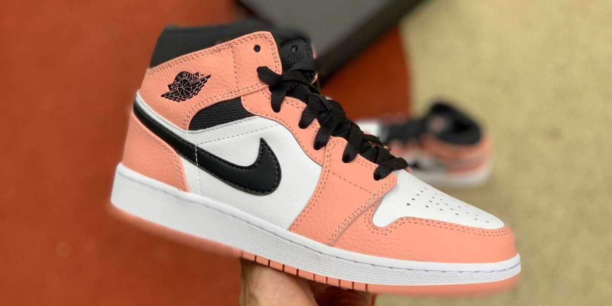 "Most Worthly Nike Air Jordan 1 Mid ""Pink Quartz"" On Sale"