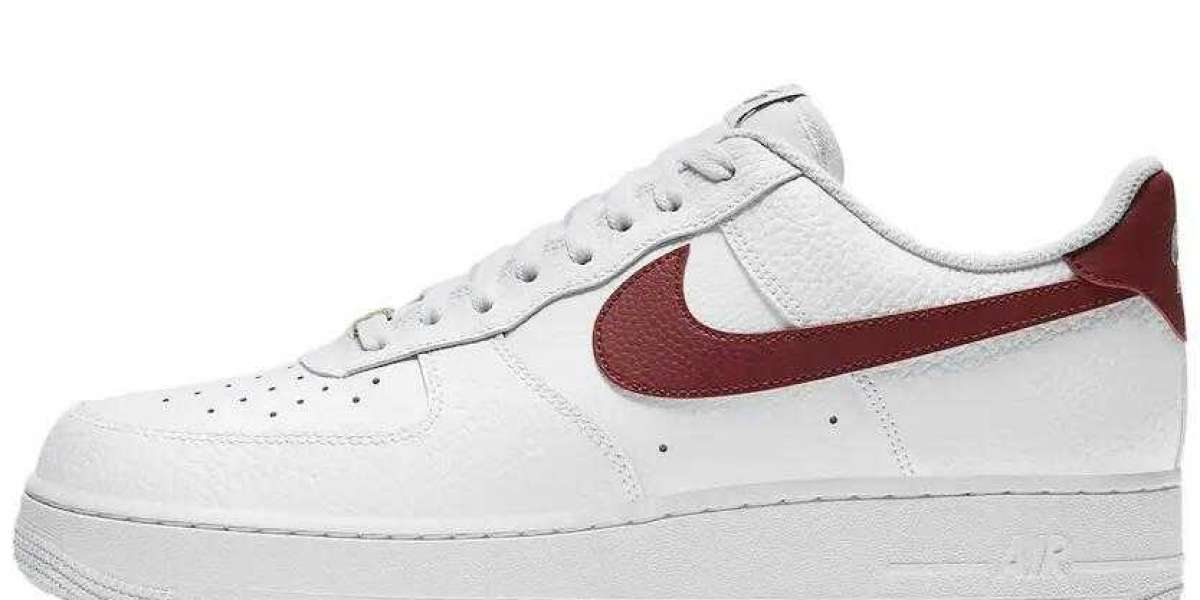 Latest 2021 Nike Air Force 1 Low White Team Red for Cheap Sale